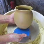 gedrehtes Gefäß beim anbheben