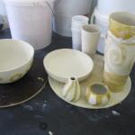 Porzellan beim trocknen