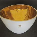 Porzellan mit Gold