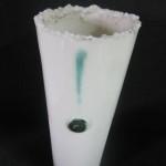 Porzellanvase mit Oxid